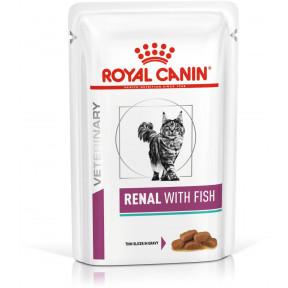 Влажный корм для кошек Royal Canin Renal, при проблемах с почками, с тунцом (кусочки в соусе) 85 г