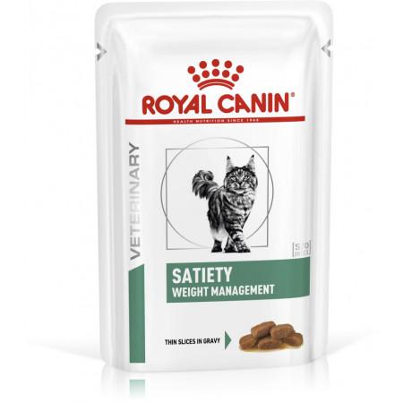 Влажный корм для кошек Royal Canin Satiety Weight Management при избыточном весе (кусочки в соусе) 85 г