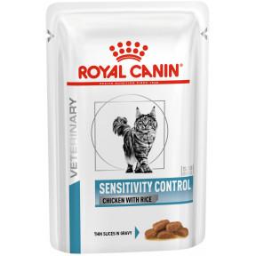 Влажный корм для кошек Royal Canin Sensitivity Control при проблемах с ЖКТ, при аллергии, с курицей, с рисом 85 г