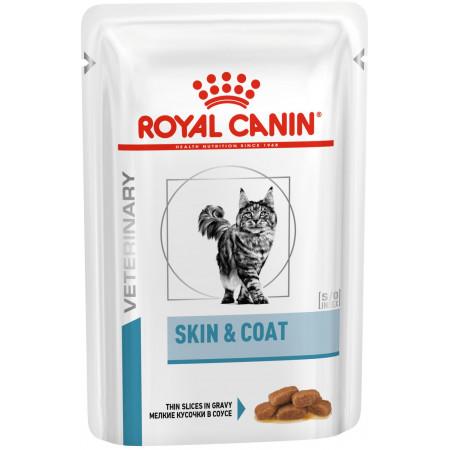 Влажный корм для кошек Royal Canin Skin Coat при проблемах с кожей (кусочки в соусе) 85 г