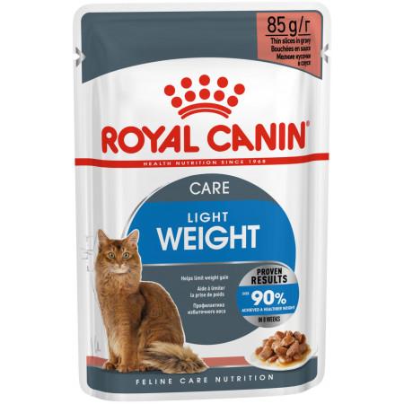 Влажный корм для кошек Royal Canin Ultra Light для профилактики избыточного веса (кусочки в соусе) 85 г