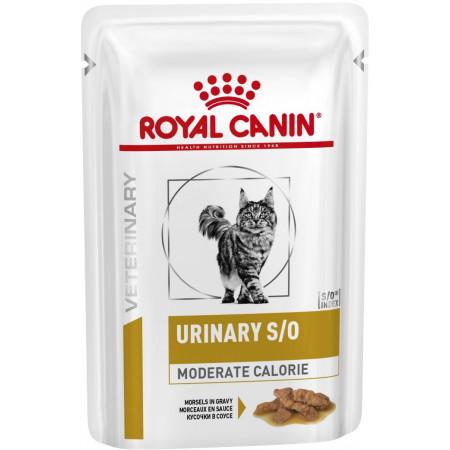 Влажный корм для кошек Royal Canin Urinary S/O Moderate Calorie для лечения МКБ (кусочки в соусе) 85 г
