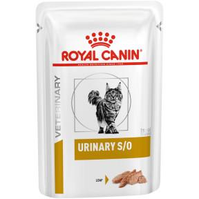 Влажный корм для кошек Royal Canin Urinary S/O для лечения МБК (паштет) 85 г