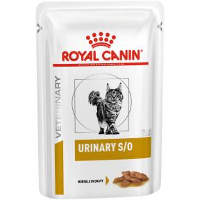 Влажный корм для кошек Royal Canin Urinary S/O для лечения МКБ (кусочки в соусе) 85 г