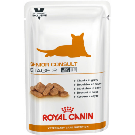 Влажный корм для пожилых кошек Royal Canin Senior Consult Stage 2 для профилактики МКБ (кусочки в соусе) 100 г