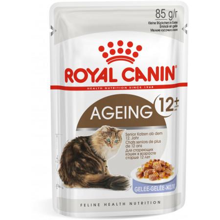 Влажный корм для пожилых кошек старше 12 лет Royal Canin Ageing 12+ кусочки в желе 85 г