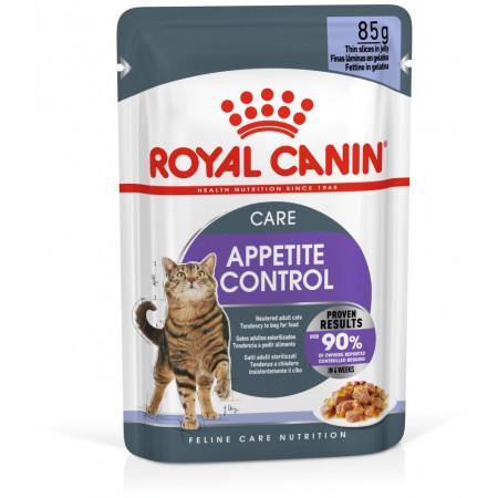Влажный корм для стерилизованных кошек Royal Canin Appetite Control Care для профилактики избыточного веса, кусочки в желе 85 г