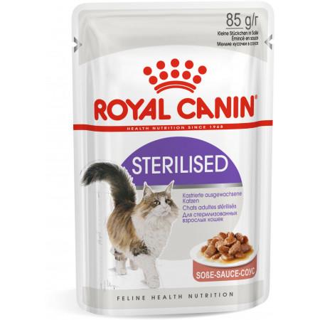 Влажный корм для стерилизованных кошек Royal Canin Sterilised кусочки в соусе 85 г