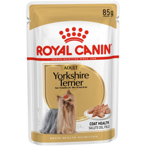 Влажный корм для Йоркширского Терьера Royal Canin Yorkshire Terrier для здоровья кожи и шерсти (для собак от 10 месяцев) 85 г