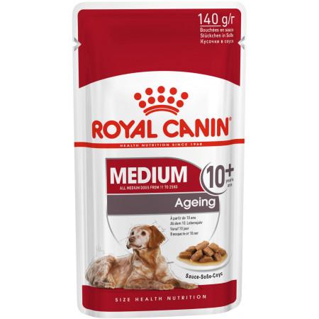 Влажный корм для пожилых собак Royal Canin Medium Ageing для здоровья кожи и шерсти, для здоровья костей и суставов (для средних пород) 140 г