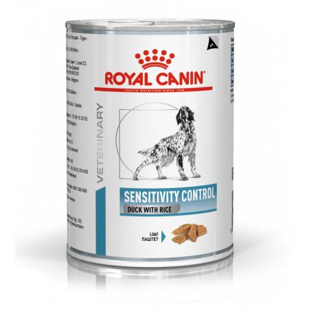 Влажный корм для собак Royal Canin Sensitivity Control при дерматологических заболеваниях, утка с рисом (паштет) 420 г