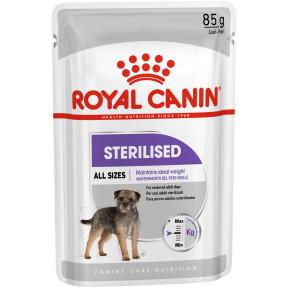 Влажный корм для стерилизованных собак Royal Canin Sterilised при склонности к избыточному весу 85 г