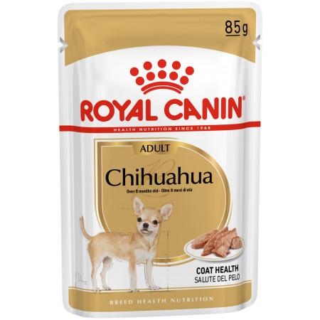 Влажный корм для Чихуахуа Royal Canin Chihuahua Adult для здоровья кожи и шерсти (для собак от 8 месяцев) 85 г