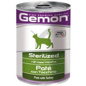 Влажный корм для стерилизованных кошек Gemon Sterilised паштет с индейкой 400 г