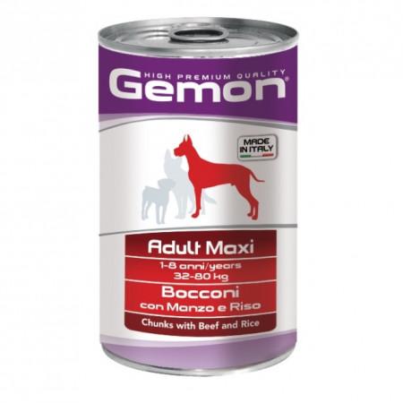 Влажный корм для собак Gemon Adult Maxi кусочки с говядиной и рисом (для крупных пород) 1.25 кг