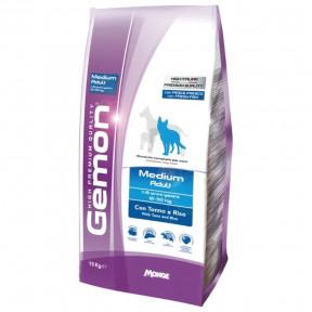 Сухой корм для собак Gemon Medium Adult c тунцом и рисом (для средних пород) 15 кг