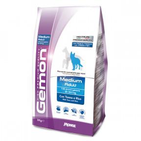 Сухой корм для собак Gemon Medium Adult c тунцом и рисом (для средних пород) 3 кг