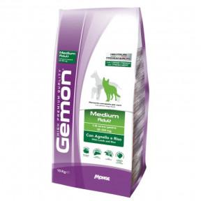 Сухой корм для собак Gemon Medium Adult c ягненком и рисом (для средних пород) 15 кг