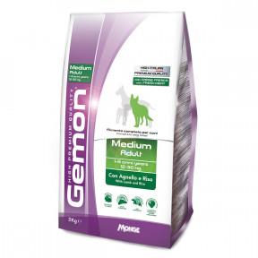 Сухой корм для собак Gemon Medium Adult c ягненком и рисом (для средних пород) 3 кг