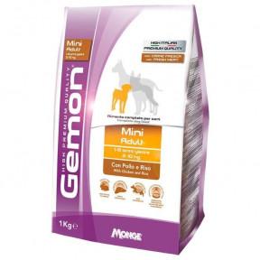 Сухой корм для собак Gemon Mini Adult c курицей с рисом (для мелких пород) 3 кг