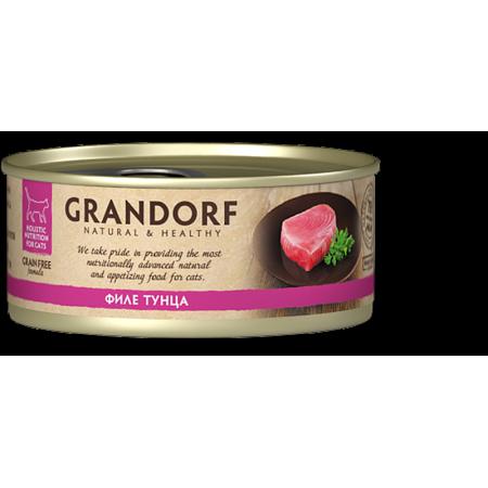 Влажный корм для кошек Grandorf беззерновой, Филе тунца 70 г