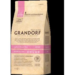 Сухой корм для котят Grandorf KITTEN низкозерновой, Ягненок с бурым рисом 400 г