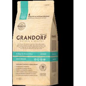 Сухой корм для кошек живущих в помещении Grandorf 4 Meat & Brown Rice Adult INDOOR низкозерновой, Четыре вида мяса и бурый рис 400 г
