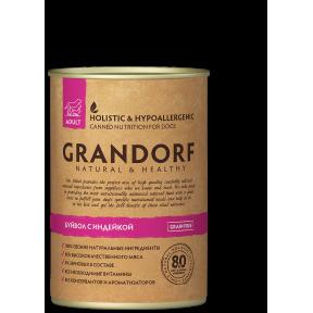 Влажный корм для собак Grandorf беззерновой, Буйвол и Индейка 400 г