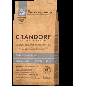 Сухой корм для собак Grandorf Adult All Breeds беззерновой, Кролик с бататом 3 кг