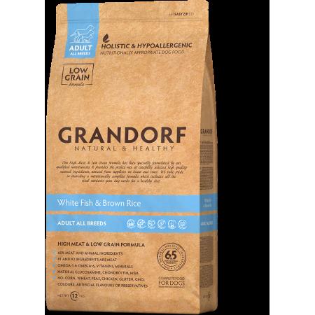 Сухой корм для собак Grandorf Adult All Breeds низкозерновой, Белая рыба с рисом 1 кг