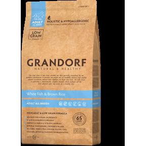 Сухой корм для собак Grandorf Adult All Breeds низкозерновой, Белая рыба с рисом 12 кг