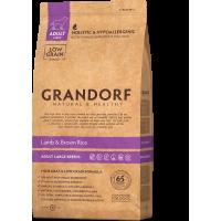 Сухой корм для собак Grandorf Adult Large Breeds низкозерновой, Ягненок с рисом (для крупных пород) 12 кг