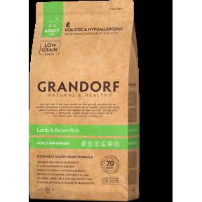 Сухой корм для собак Grandorf Adult Mini Breeds низкозерновой, Ягненок с бурым рисом (для мелких пород) 3 кг