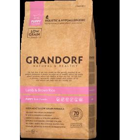Сухой корм для щенков, беременных и кормящих сук Grandorf Puppy All Breeds низкозерновой, Ягненок с коричневым рисом 12 кг