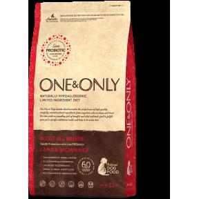 Сухой корм для собак One & Only Adult All Breeds низкозерновой, Ягненок с бурым рисом 1 кг