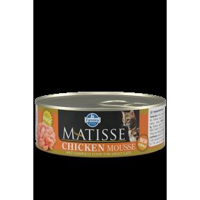 Влажный корм для кошек Farmina Matisse мусс с курицей 85 г