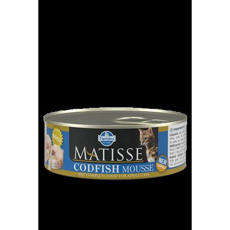 Влажный корм для кошек Farmina Matisse мусс с треской 85 г