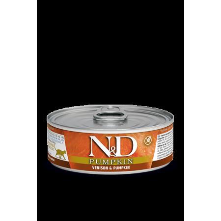 Влажный корм для кошек Farmina N&D Pumpkin беззерновой, с олениной, с тыквой (кусочки в соусе) 80 г