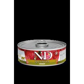 Влажный корм для кошек Farmina N&D Quinoa Urinary беззерновой, для профилактики МКБ, с уткой, с киноа, с клюквой и с ромашкой 80 г
