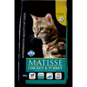 Сухой корм для кошек Farmina Matisse с курицей c индейкой 20 кг