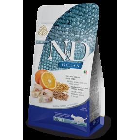Сухой корм для кошек Farmina N&D Ocean низкозерновой, с треской, спельтой, с овсом и с апельсином 5 кг