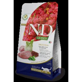 Сухой корм для кошек Farmina N&D Quinoa Digestion беззерновой, при чувствительном пищеварении, с ягненком, с киноа, с фенхелем и с мятой 1.5 кг