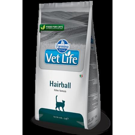 Сухой корм для кошек Farmina Vet Life Hairball для вывода комочков шерсти из желудка 2 кг