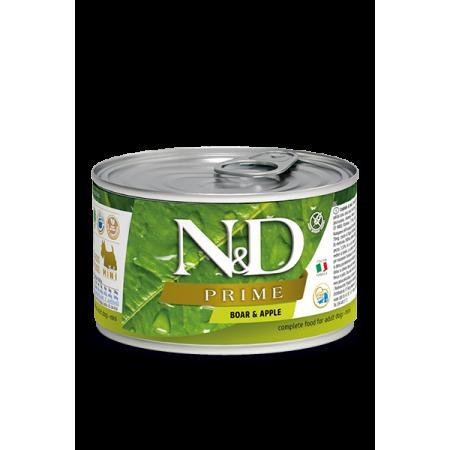 Влажный корм для собак Farmina N&D Prime беззерновой, с кабаном, с яблоком (для мелких пород) 80 г
