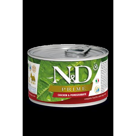 Влажный корм для собак Farmina N&D Prime беззерновой, с курицей, с гранатом (для мелких пород) 80 г