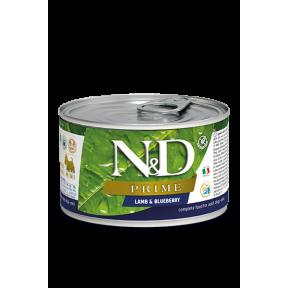 Влажный корм для собак Farmina N&D Prime беззерновой, с ягненком, с черникой (для мелких пород) 80 г