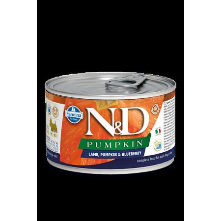 Влажный корм для собак Farmina N&D Pumpkin беззерновой, с ягненком, с тыквой, с черникой (для мелких пород) 140 г