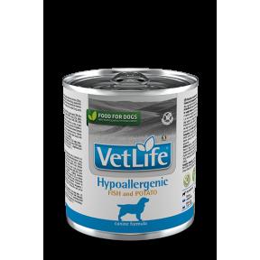 Влажный корм для собак Farmina Vet Life Hypoallergenic беззерновой, при аллергии, при болезнях ЖКТ, с рыбой, с картофелем 300 г