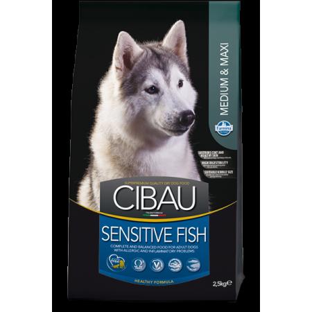 Сухой корм для собак Farmina Cibau Sensitive при аллергии с рыбой (для средних и крупных пород) 12 кг