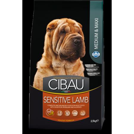 Сухой корм для собак Farmina Cibau Sensitive при аллергии с ягненком (для средних и крупных пород) 12 кг